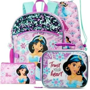 Disney's Princess Jasmine 5 Piece Backpack Set